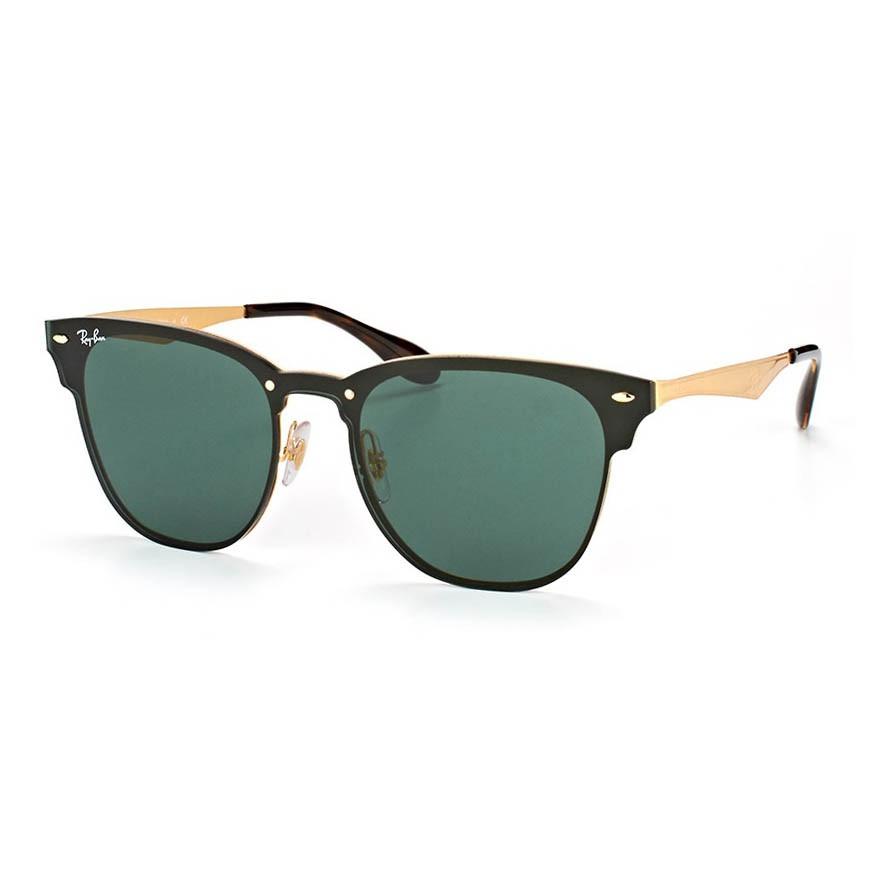 Óculos de Sol Ray Ban Blaze Clubmaster RB3576N Dourado Dark Green