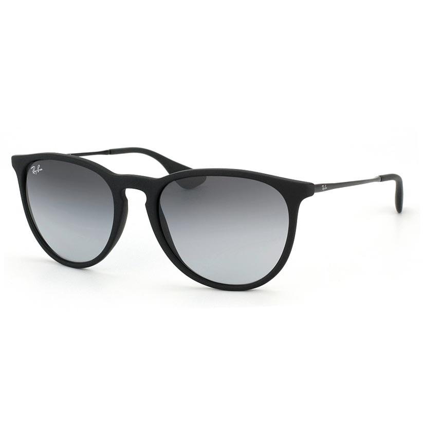Óculos de Sol Ray Ban Erika RB4171L Preto Fosco com Lentes Cinza