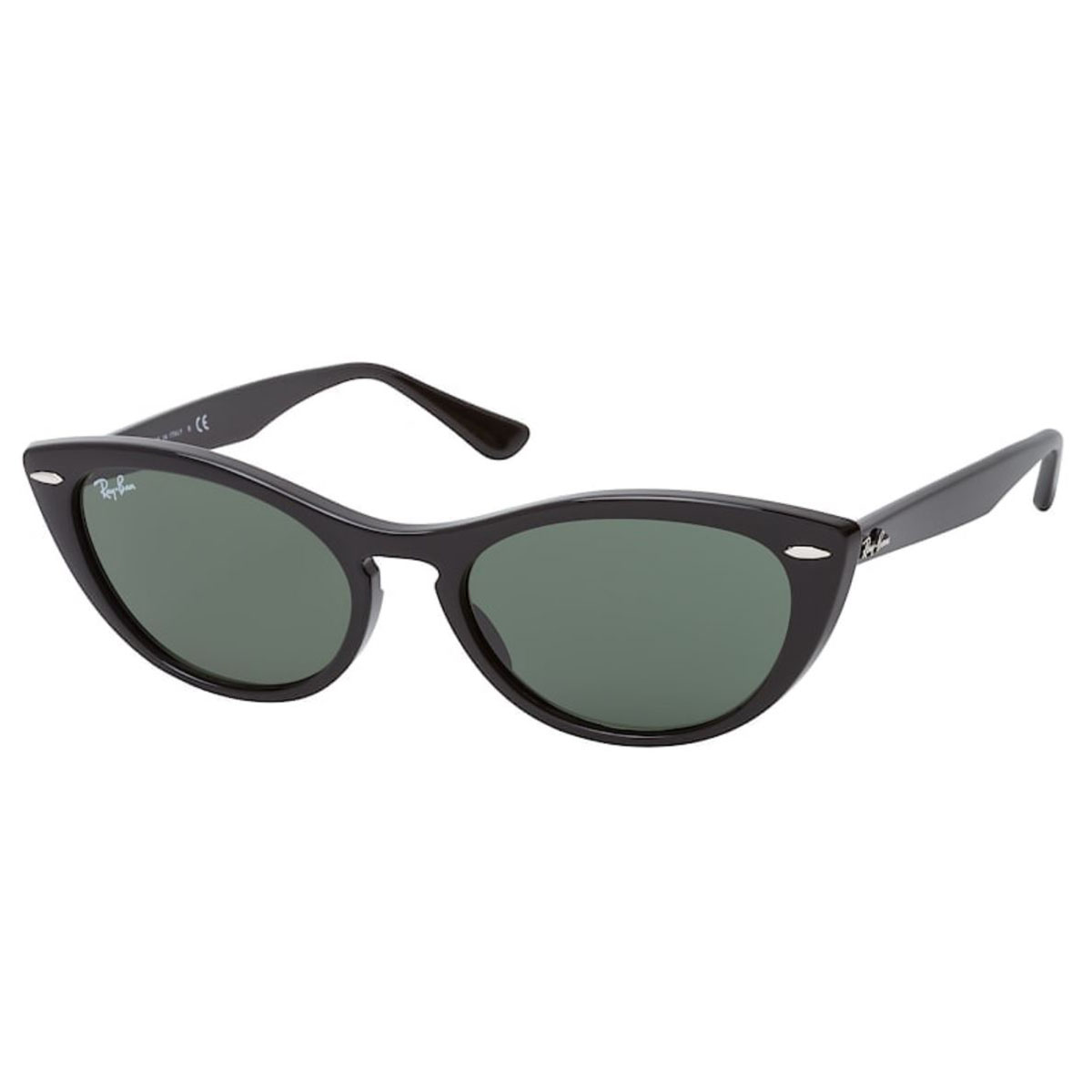 Óculos de Sol Ray Ban Feminino Gatinho RB4314N Preto Brilho