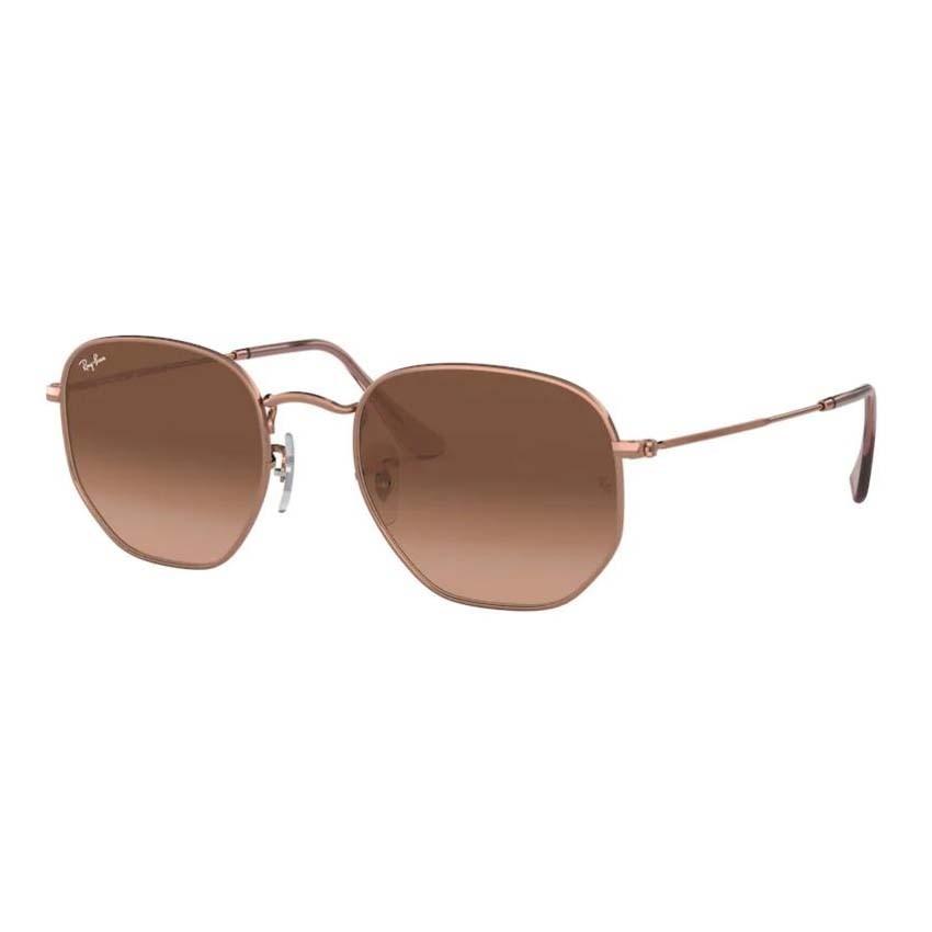 Óculos de Sol Ray Ban Hexagonal RB3548NL Bronze Brilho