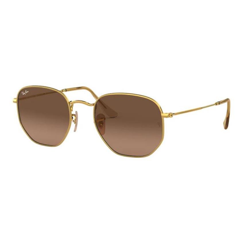 Óculos de Sol Ray Ban Hexagonal RB3548NL Dourado Brilho