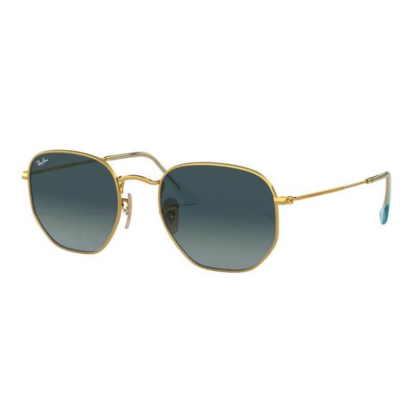 Óculos de Sol Ray Ban Hexagonal RB3548NL Dourado com Azul