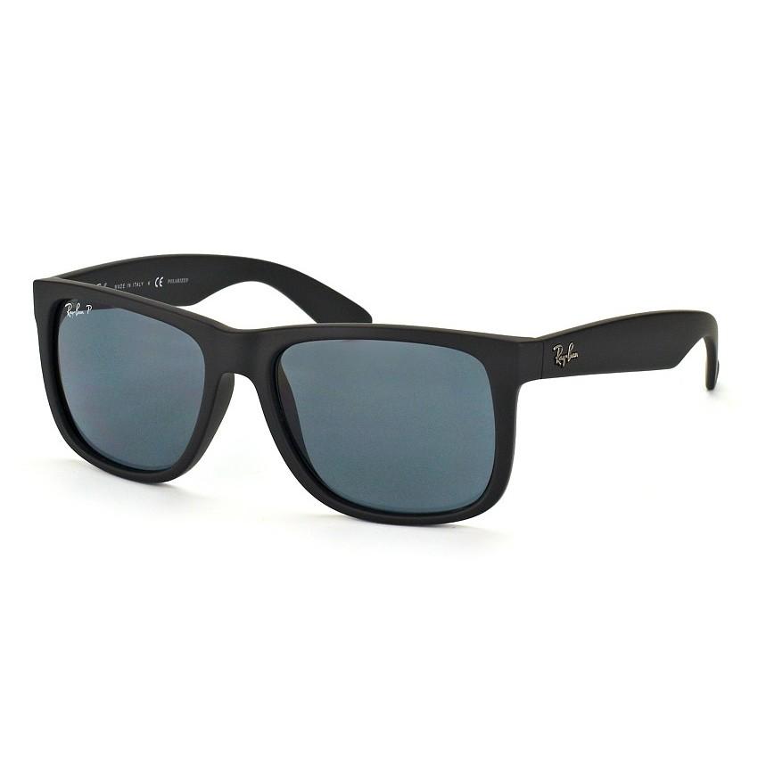 Óculos de Sol Ray Ban Justin Polarizado RB4165L Preto Fosco