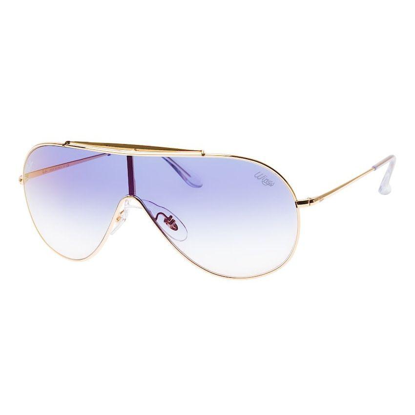 Óculos de Sol Ray Ban Mascara Wings RB3597 Dourado Brilho