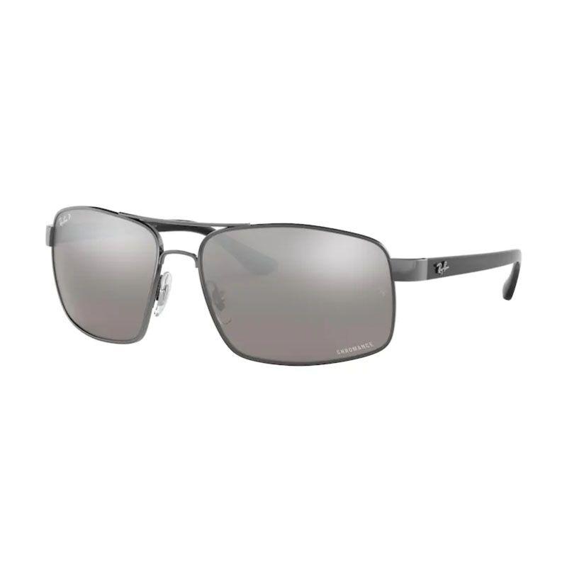 Óculos de Sol Ray Ban Masculino Espelhado RB3604 Prata Polarizado