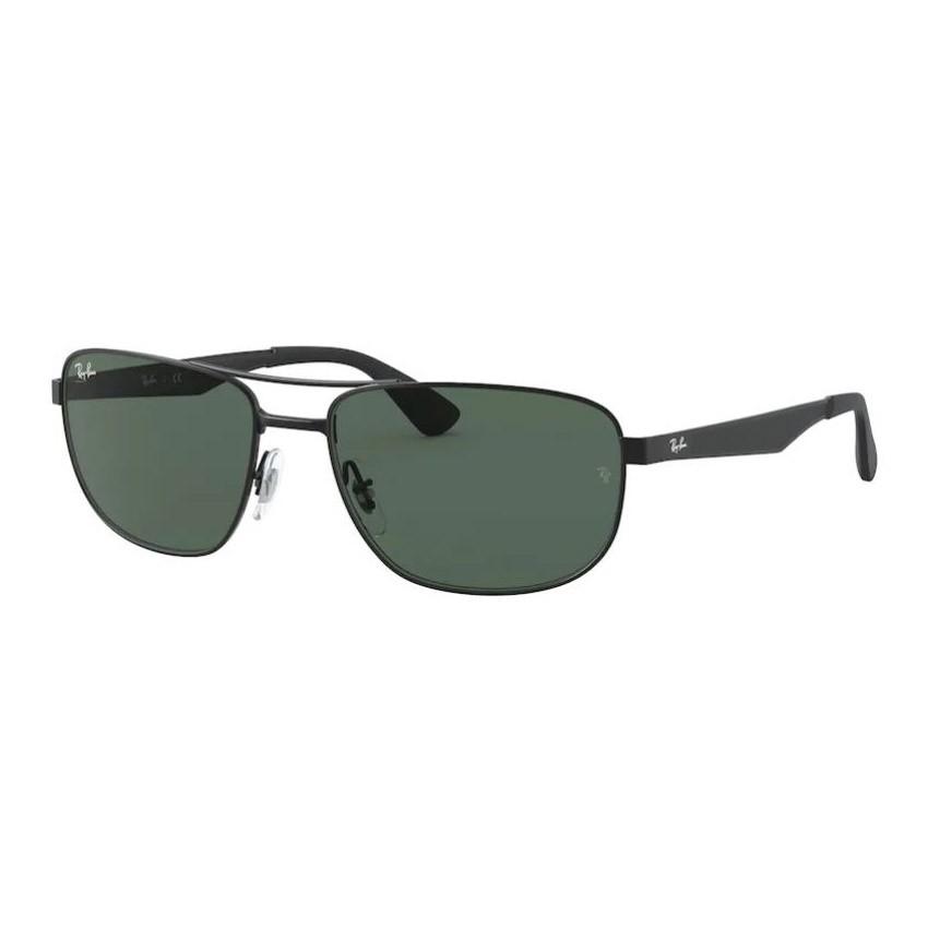 Óculos de Sol Ray Ban Masculino RB3528 Metal Preto Fosco Grande