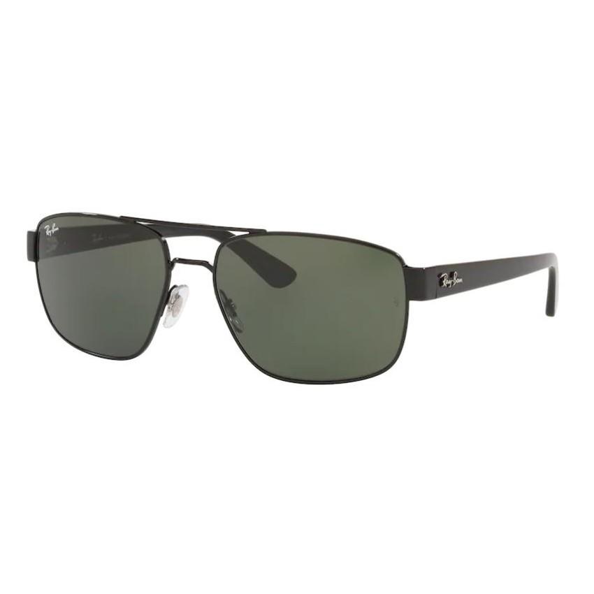 Óculos de Sol Ray Ban Masculino RB3663L Metal Preto Brilho