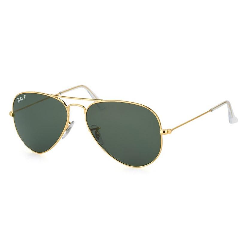 Óculos de Sol Ray Ban Metal RB3025 Aviador Dourado Polarizado