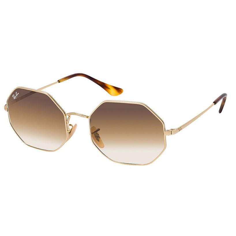 Óculos de Sol Ray Ban Octagon RB1972 Dourado Brilho Marrom Degradê