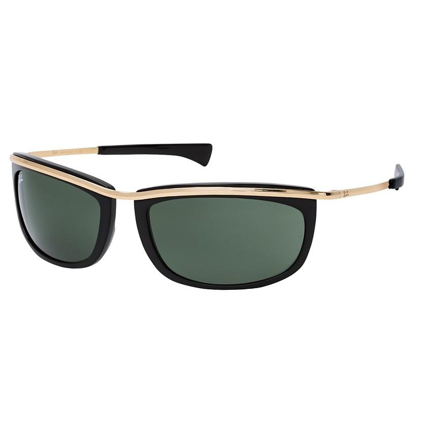 Óculos de Sol Ray Ban Olympian I RB2319 Curvado Preto e Dourado