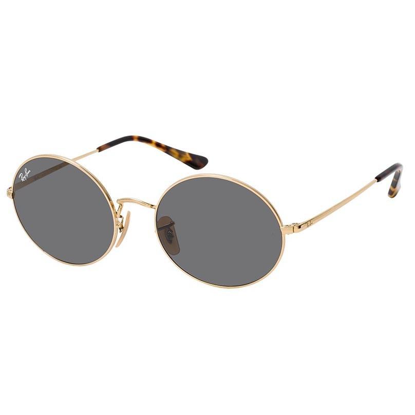 Óculos de Sol Ray Ban Oval RB1970 Metal Dourado Brilho com Demi