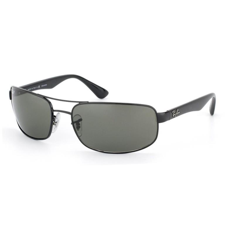 Óculos de Sol Ray Ban Polarizado RB3445 Preto Brilho Grande