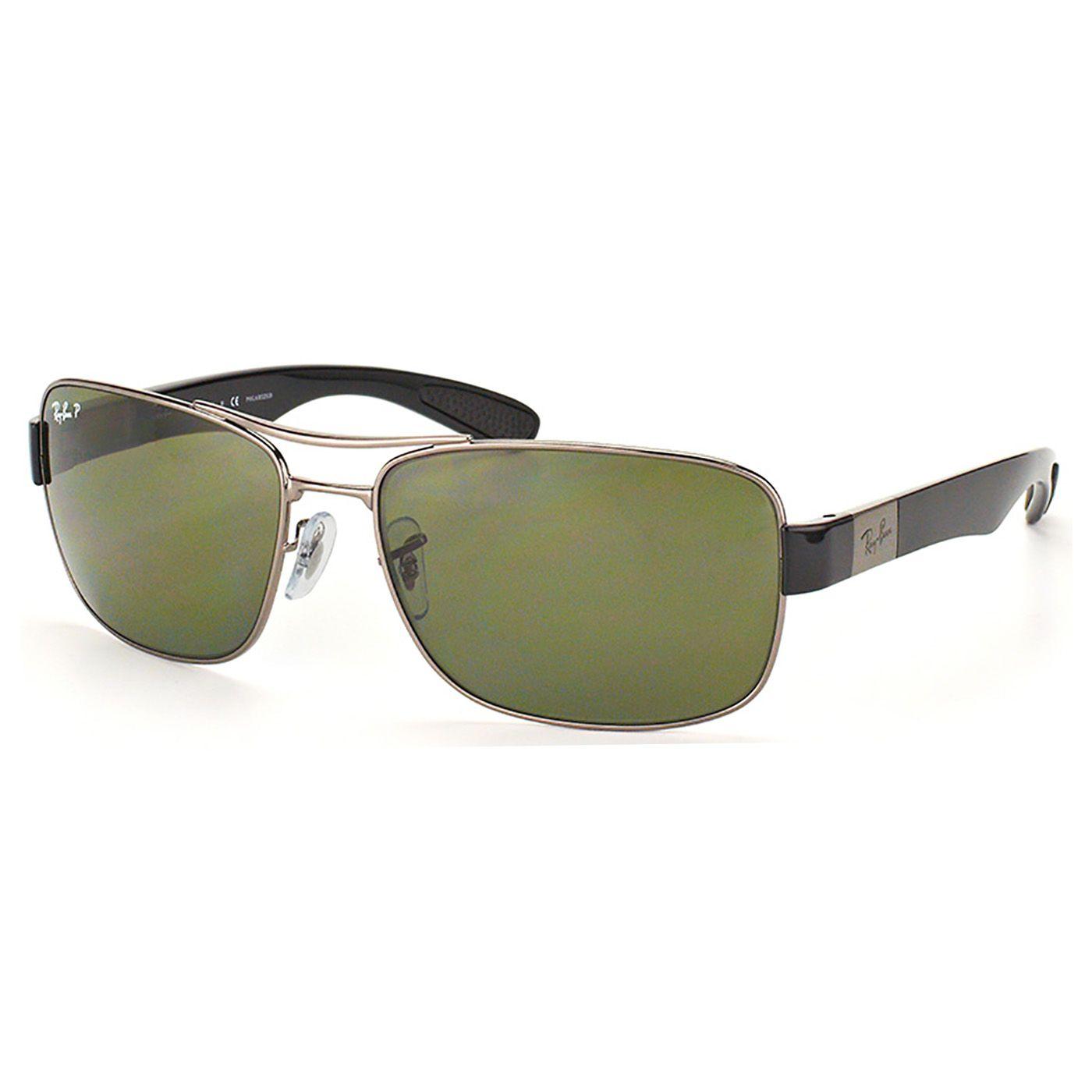 Óculos de Sol Ray Ban Polarizado RB3522 Masculino Metal Cinza