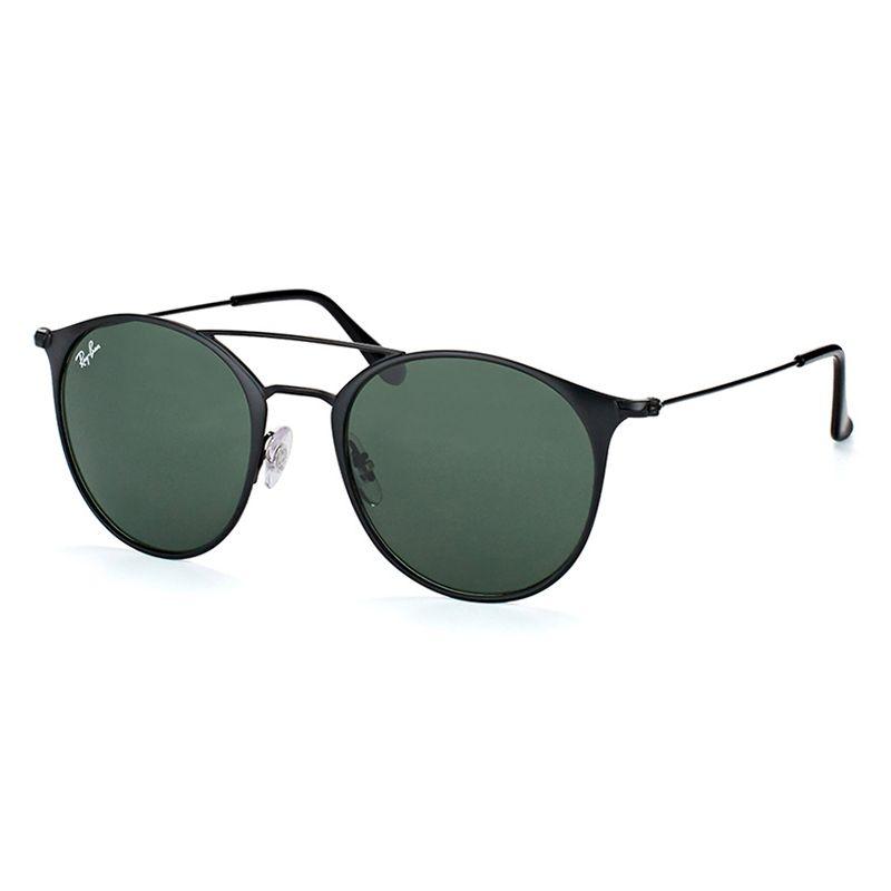 Óculos de Sol Ray Ban Polarizado RB3546 Metal Preto Fosco Redondo