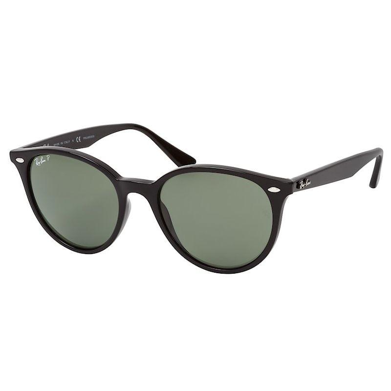 Óculos de Sol Ray Ban Polarizado RB4305 Preto Brilho Redondo