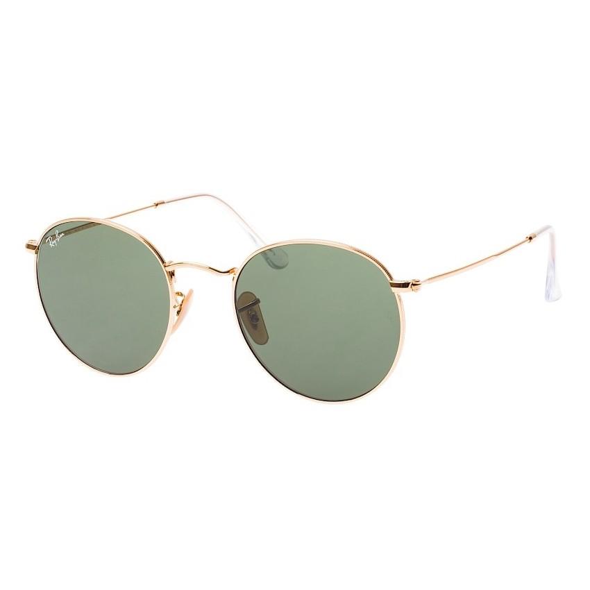 Óculos de Sol Ray Ban RB3447L Round Metal Pequeno Dourado Brilho