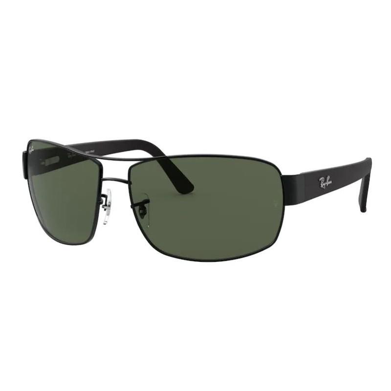 Óculos de Sol Ray Ban RB3503L Preto Fosco Metal Curvado