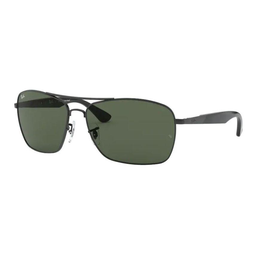 Óculos de Sol Ray Ban RB3531L Metal Grande Preto Fosco Masculino