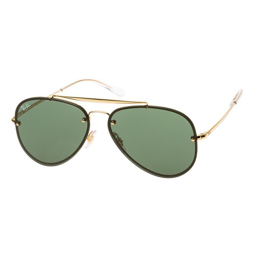 Óculos de Sol Ray Ban RB3584N Blaze Aviator Dourado Tamanho 58