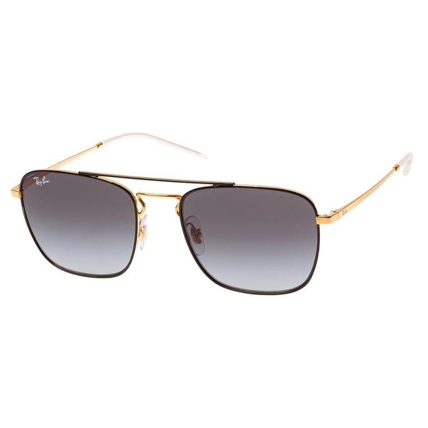 Óculos de Sol Ray Ban RB3588 Quadrado Metal Dourado e Preto