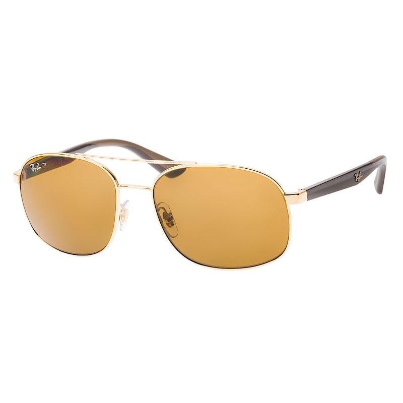 Óculos de Sol Ray Ban RB3593 Metal Dourado Polarizado Masculino