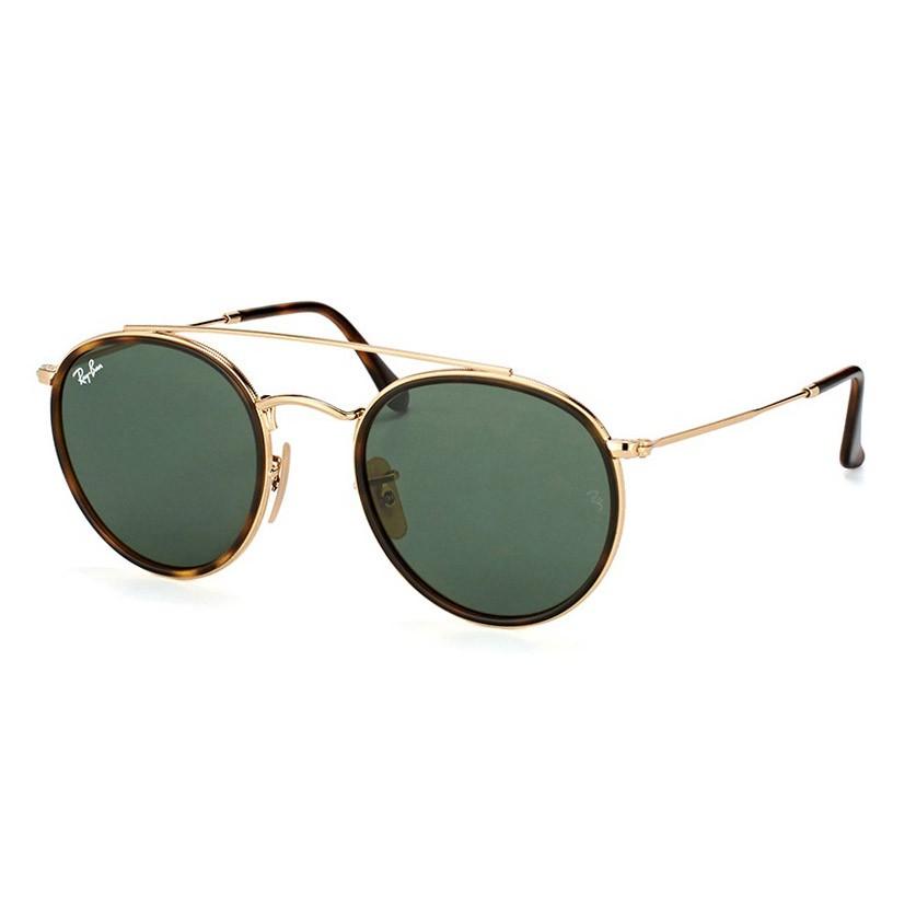 Óculos de Sol Ray Ban RB3647NL Metal Dourado e Marrom Demi