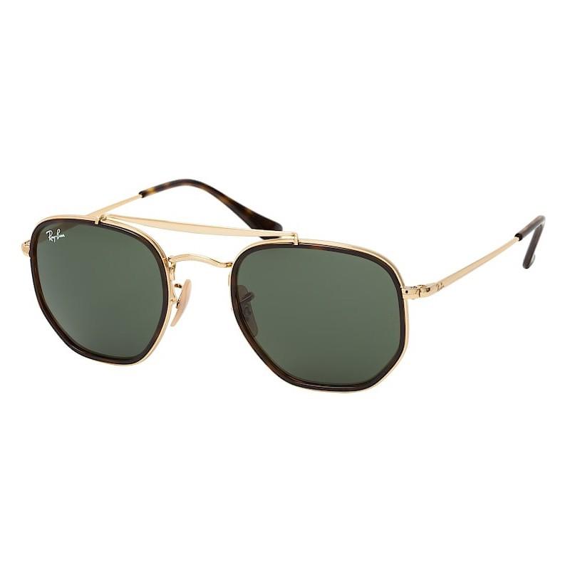 Óculos de Sol Ray Ban RB3648M The Marshal II Dourado e Marrom