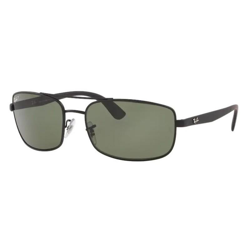 Óculos de Sol Ray Ban RB3657L Preto Fosco Polarizado Grande