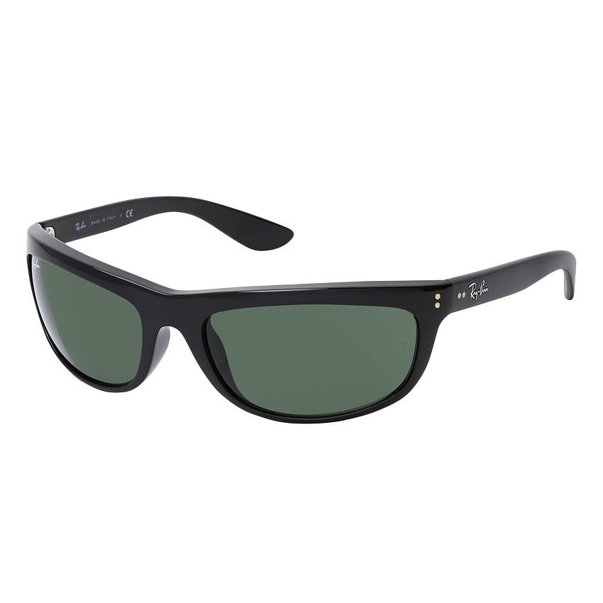 Óculos de Sol Ray Ban RB4089 Balorama Curvado Preto Brilho