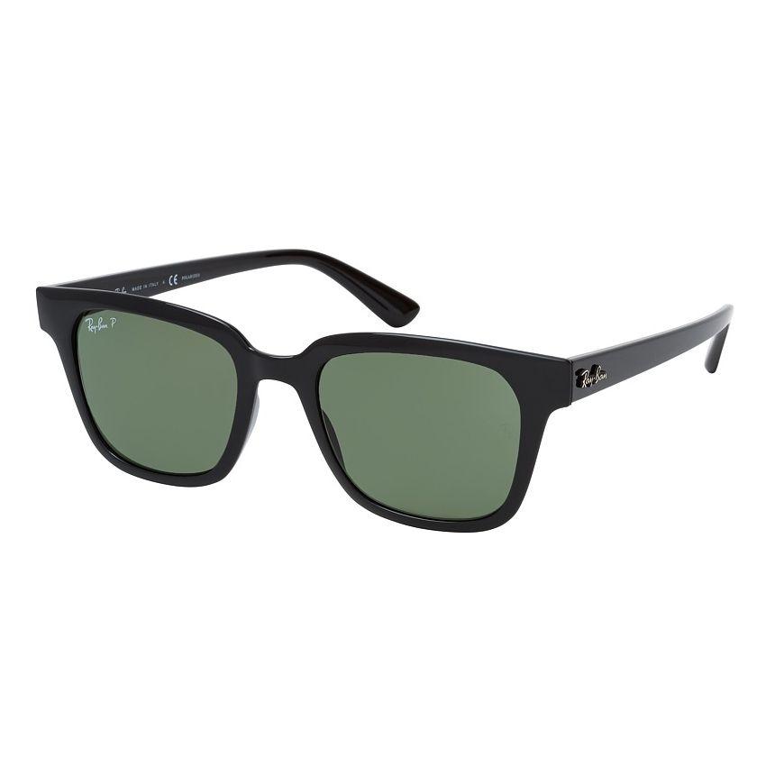 Óculos de Sol Ray Ban RB4323L Quadrado Preto Brilho Polarizado