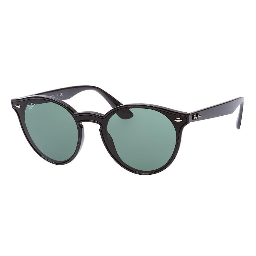 Óculos de Sol Ray Ban RB4380NL Redondo Blaze Phantos Preto Brilho