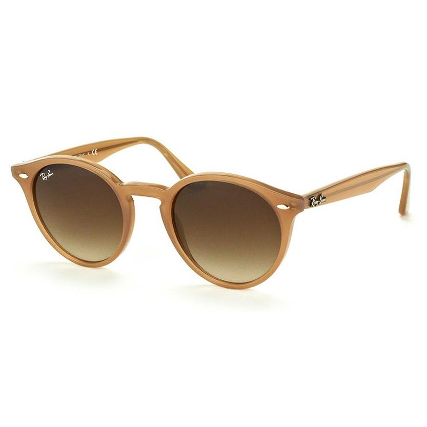 Óculos de Sol Ray Ban Redondo RB2180 Marrom Brilho Pequeno
