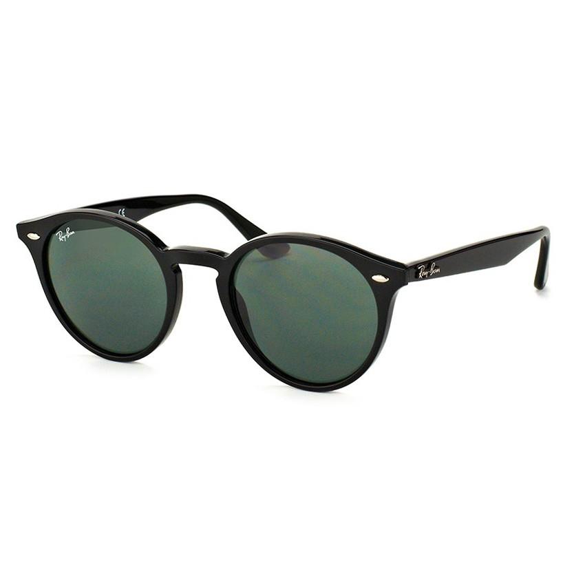 Óculos de Sol Ray Ban Redondo RB2180 Pequeno Preto Brilho