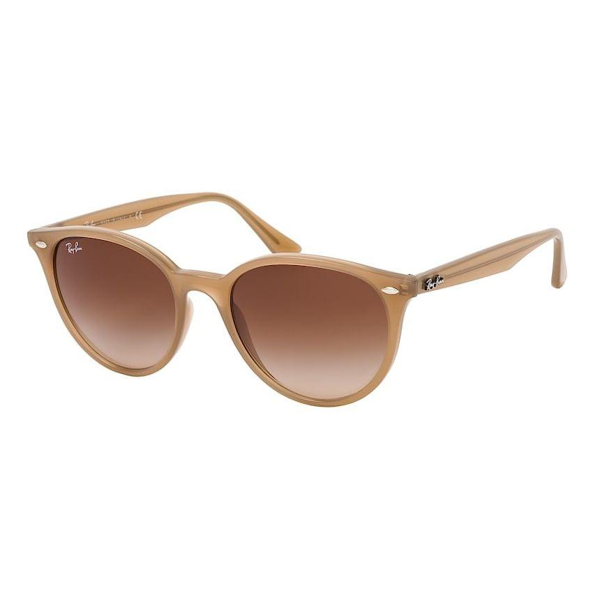 Óculos de Sol Ray Ban Redondo RB4305 Bege e Marrom Degradê