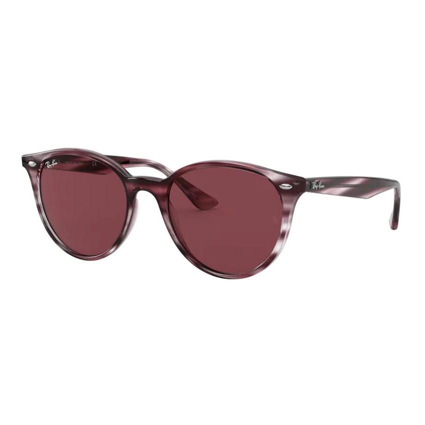 Óculos de Sol Ray Ban Redondo RB4305 Bordô Havana Brilho