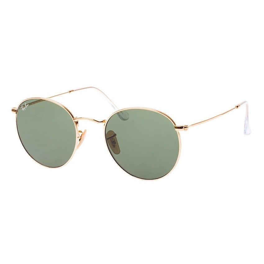 Óculos de Sol Ray Ban Round Metal RB3447L Dourado Brilho Redondo