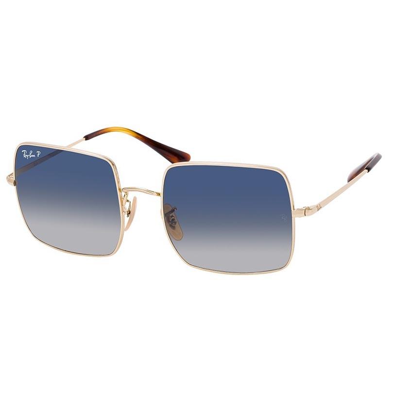 Óculos de Sol Ray Ban Square RB1971L Metal Dourado Polarizado