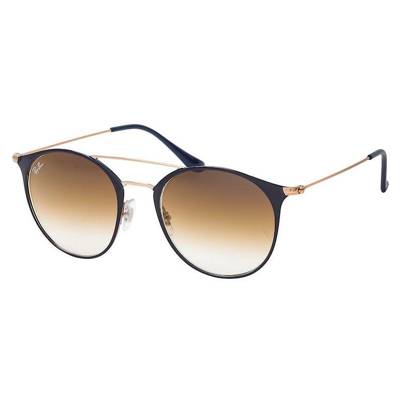 Óculos de Sol Ray Ban Redondo RB3546 Azul Brilho com Bronze