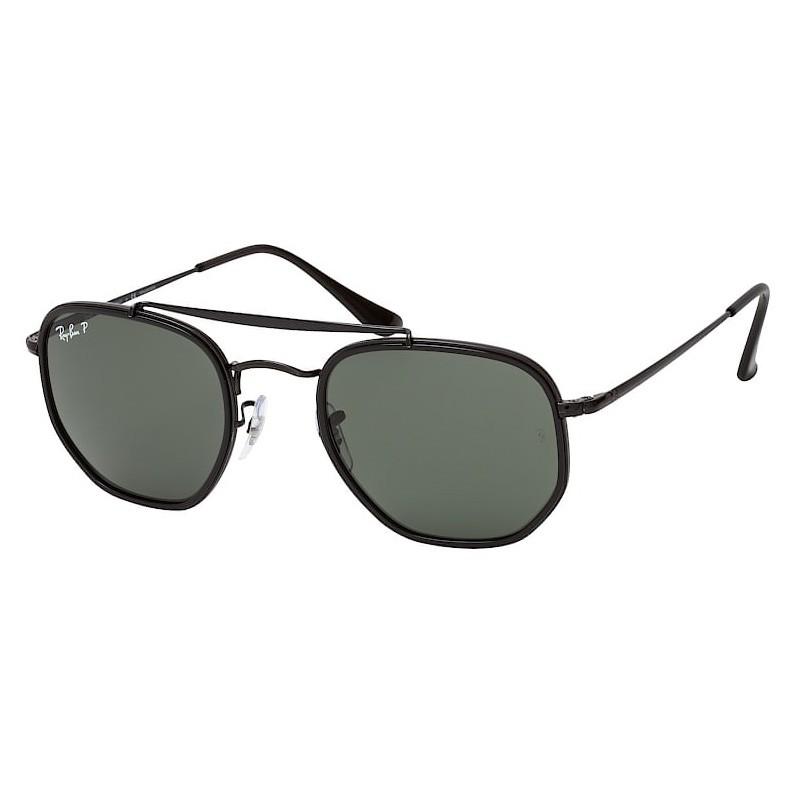 Óculos de Sol Ray Ban The Marshal II Preto Brilho Polarizado