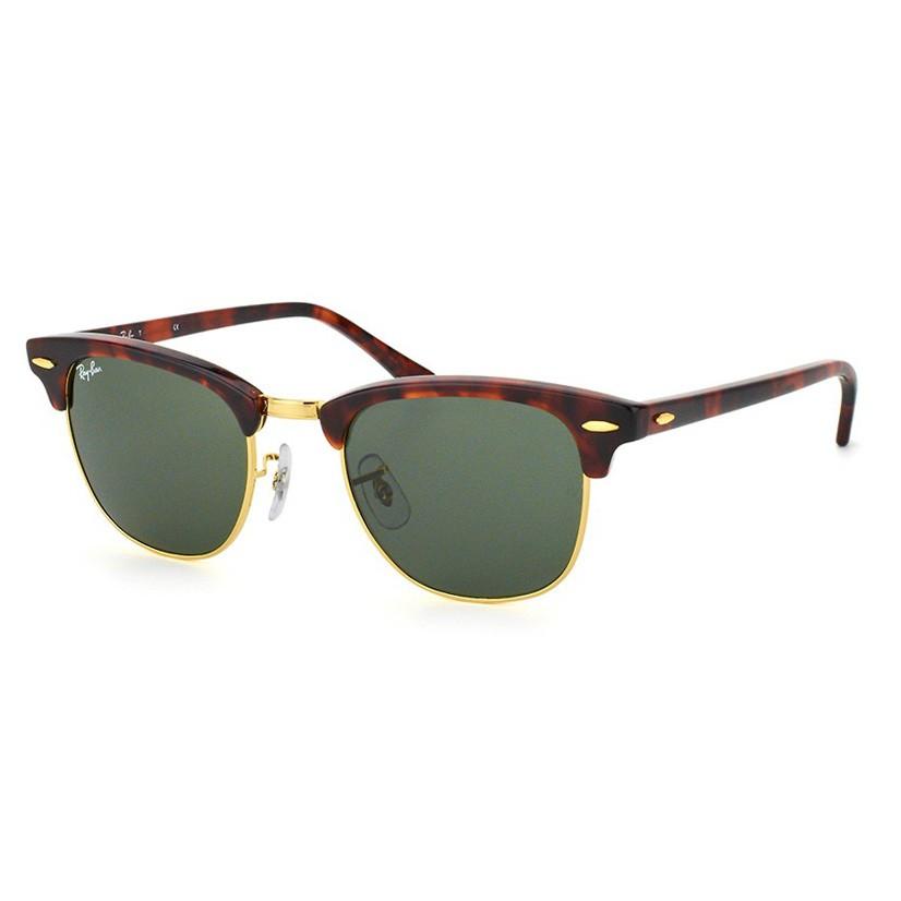 Óculos de Sol RayBan Clubmaster RB3016L Marrom Tartaruga Brilho
