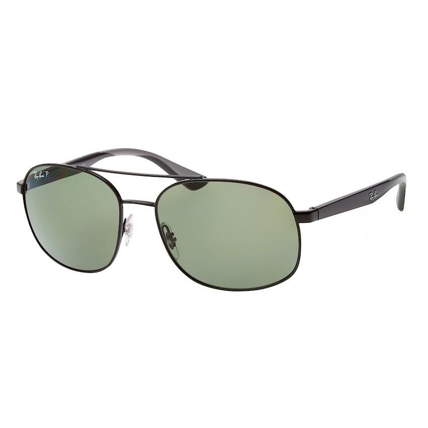 Óculos de Sol RayBan Masculino RB3593 Preto Brilho Polarizado