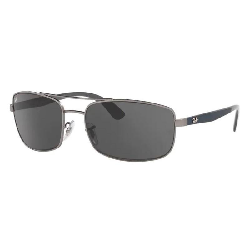 Óculos de Sol RayBan Masculino RB3657L Metal Cinza Fosco Grande