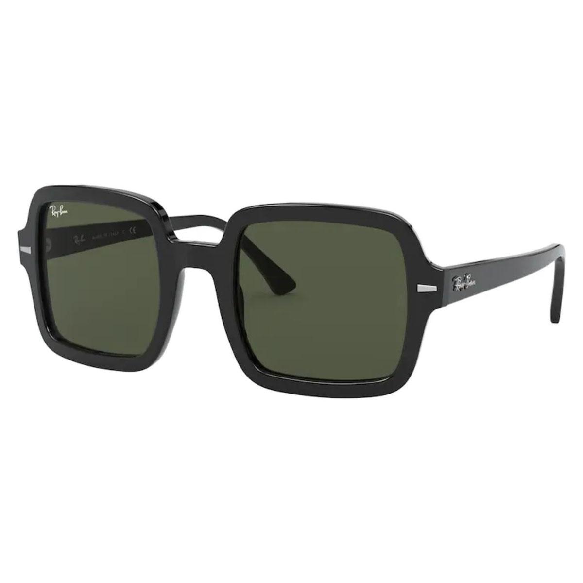 Óculos de Sol RayBan Quadrado RB2188 Preto Brilho Tamanho 53