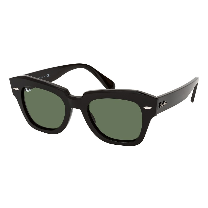 Óculos de Sol RayBan RB2186 State Street Preto Brilho