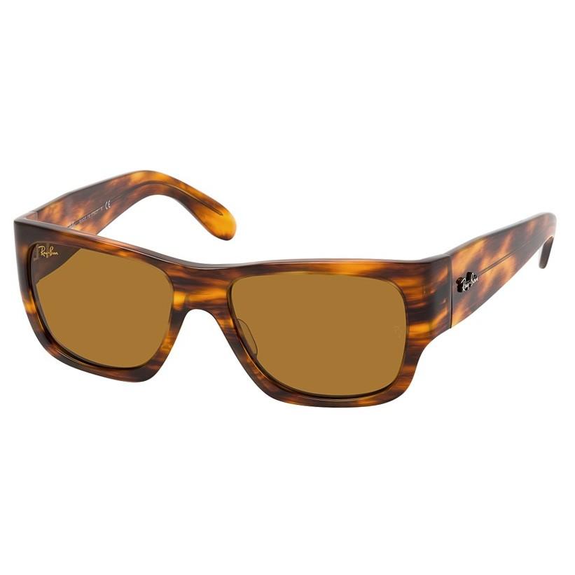 Óculos de Sol RayBan RB2187 Wayfarer Nomad Marrom Havana