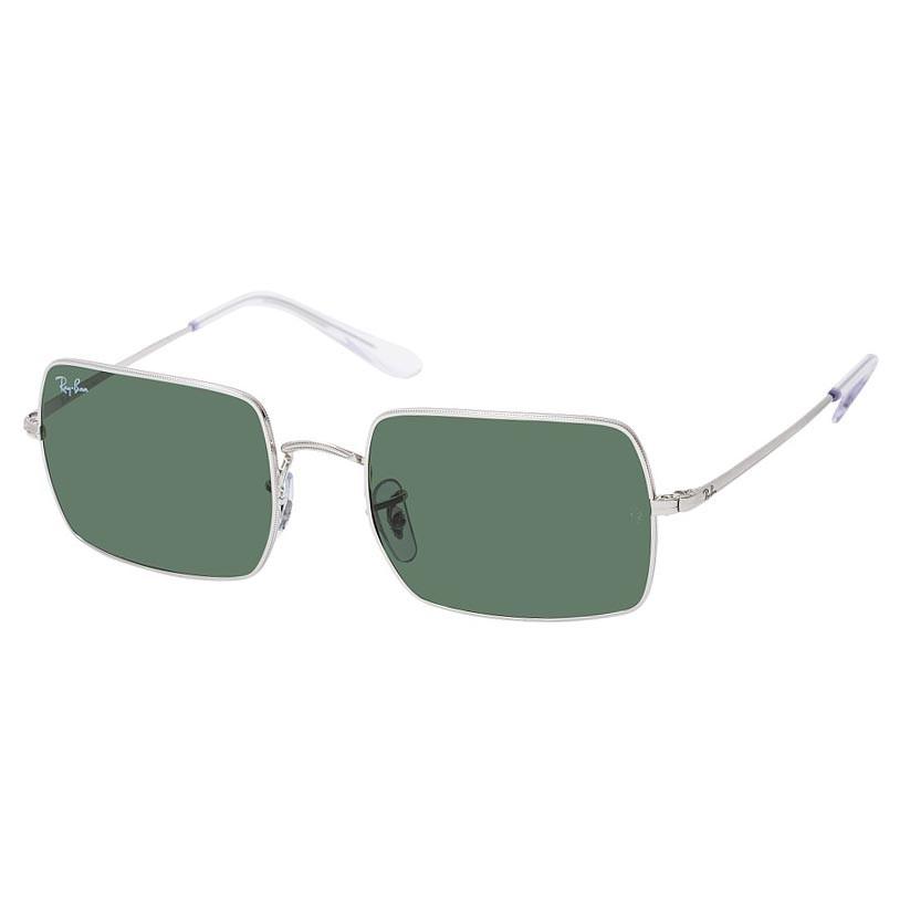Óculos de Sol RayBan Rectangle RB1969 Prata Brilho Tamanho 54