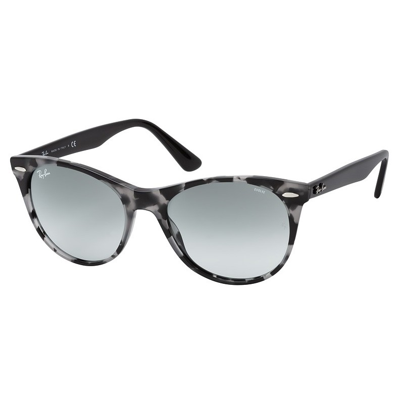 Óculos de Sol RayBan Wayfarer II RB2185 Cinza Havana Brilho