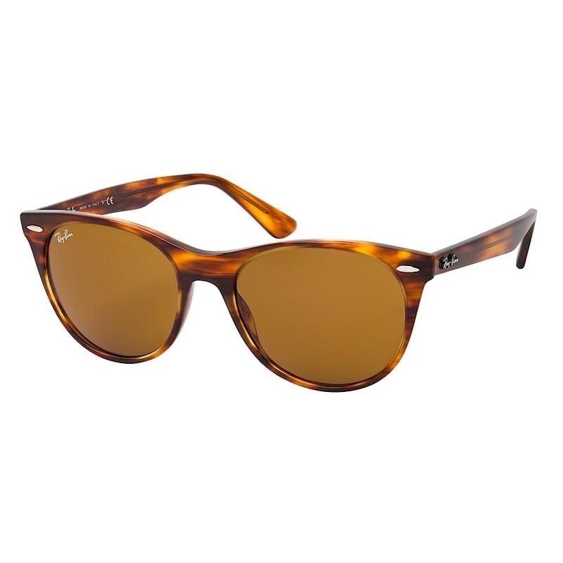 Óculos de Sol RayBan Wayfarer II RB2185 Marrom Havana Brilho