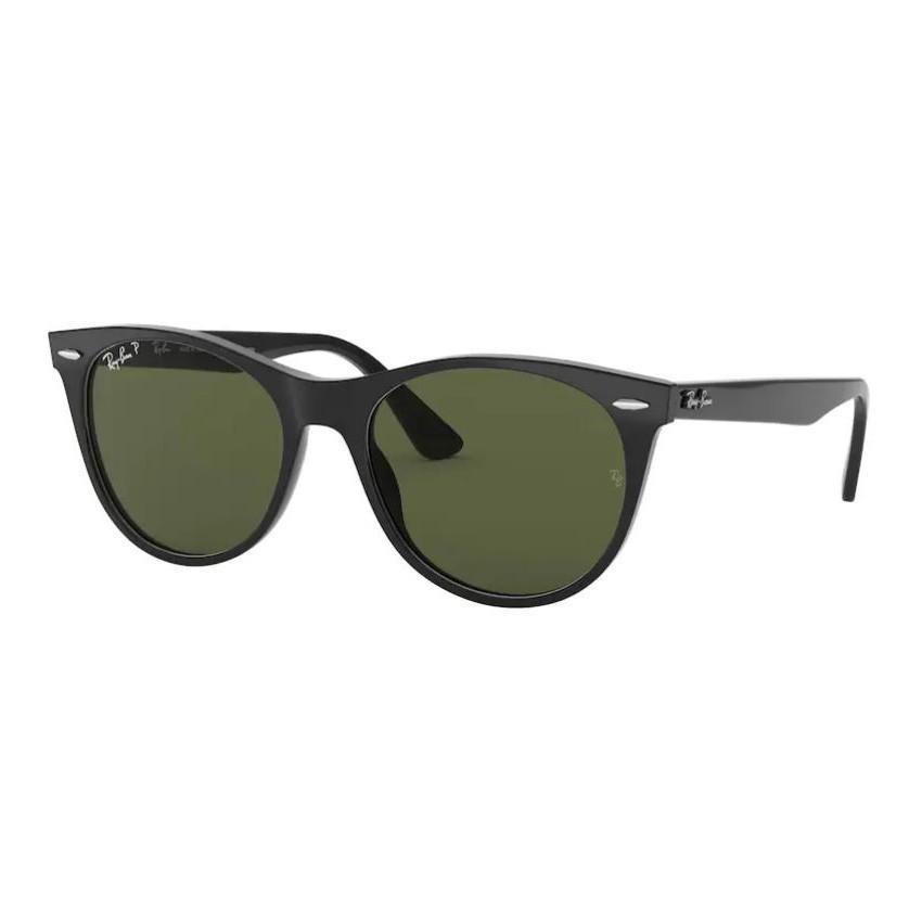 Óculos de Sol RayBan Wayfarer II RB2185 Preto Brilho Polarizado