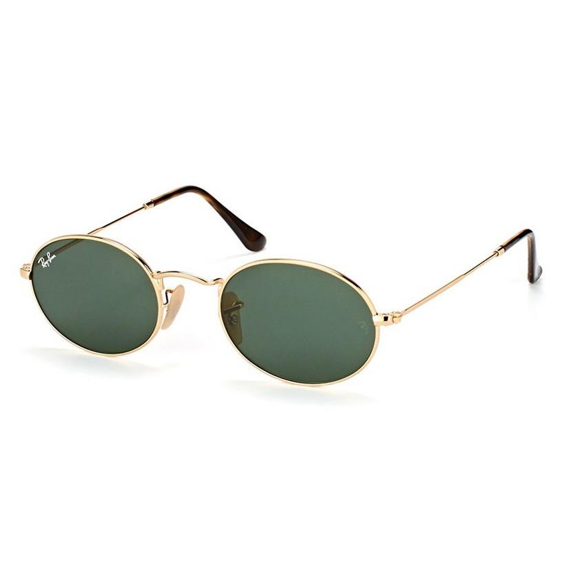 Óculos de Sol RB3547N Oval Dourado Brilho Pequeno Tamanho 51